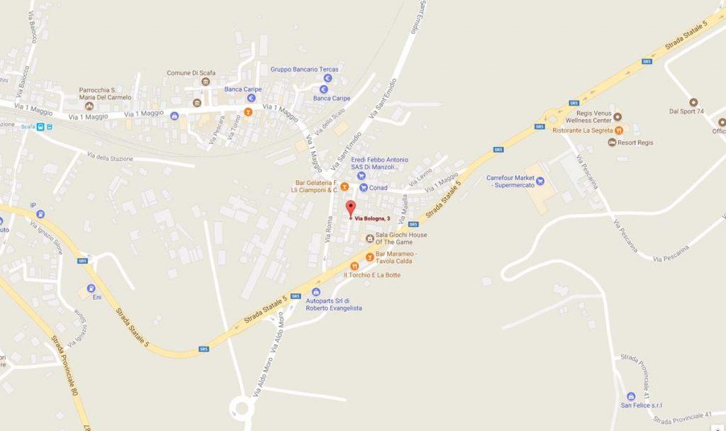 Scafa mappa Credit Solutions Snc - Recupero Crediti